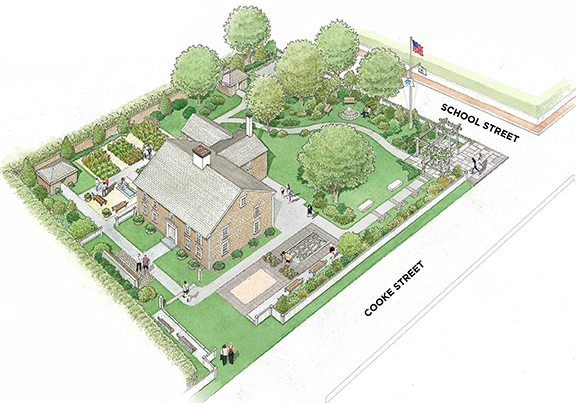 Cooke House Gardens conceptual drawing