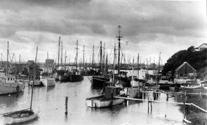 Historic panorama of harbor