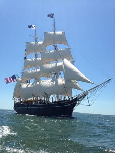 Wooden whaling ship