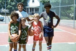 Youth basketball players at the court