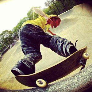 Calder Martin skateboarding